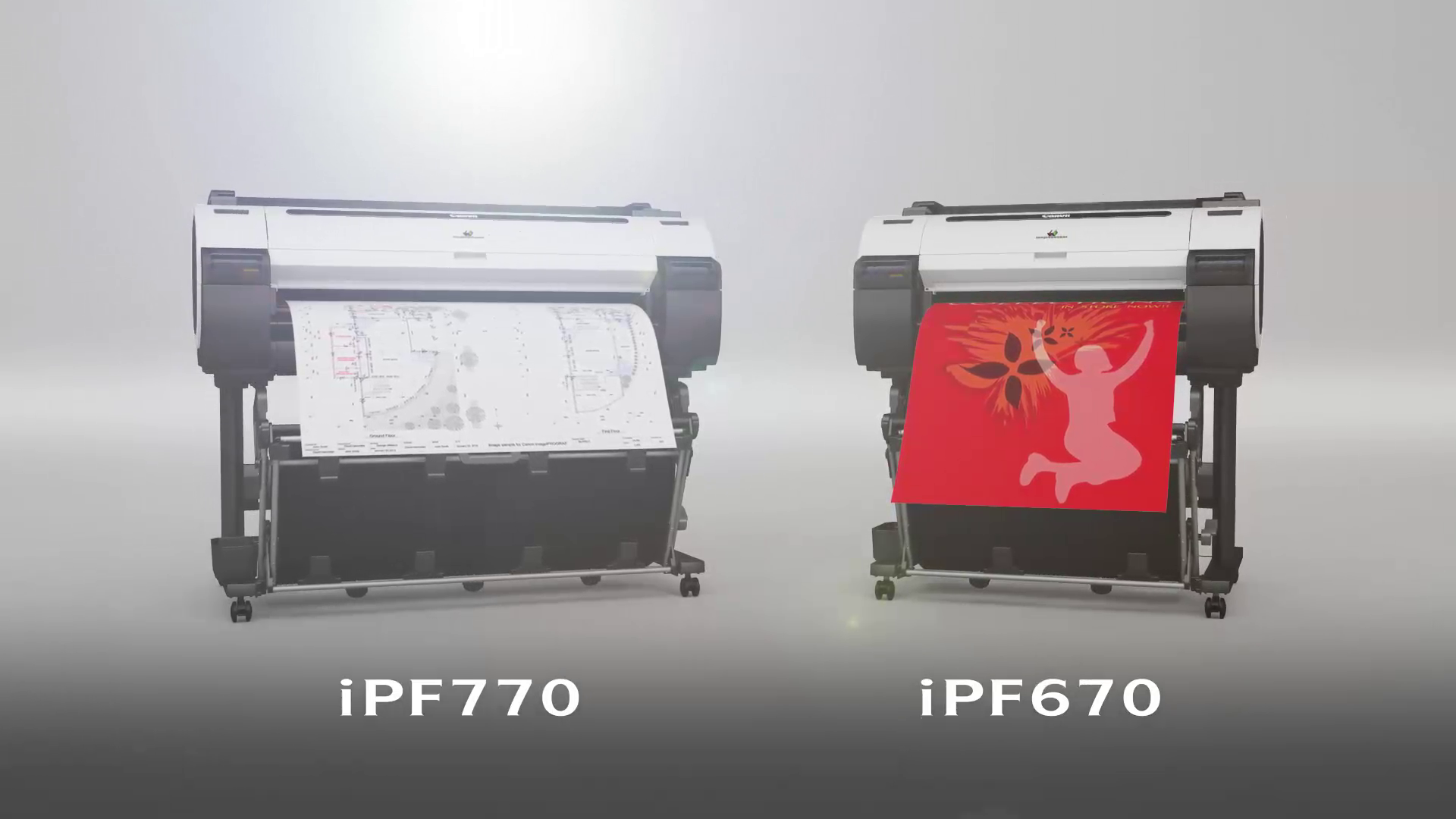 Canon iPF770 and iPF670 Overview graphic