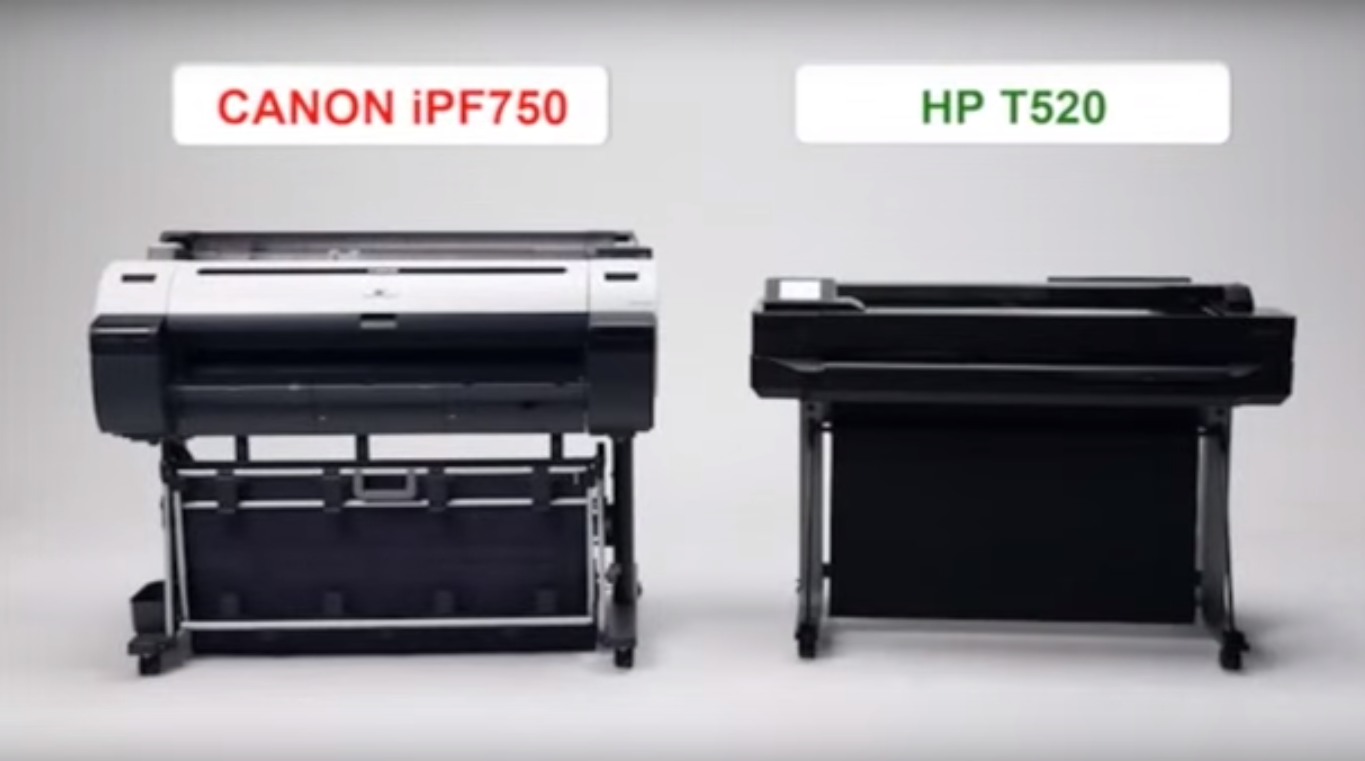 Canon iPF750 Vs HP T520 graphic