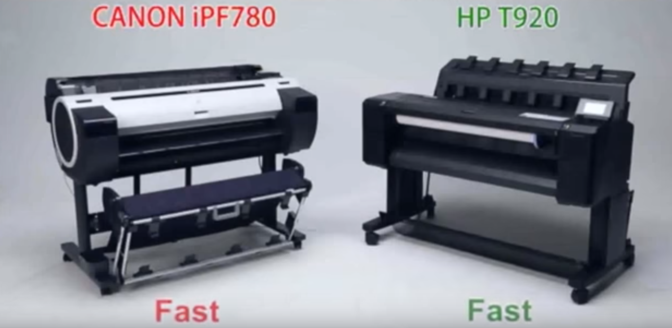 Canon iPF780 Vs HP T920 graphic
