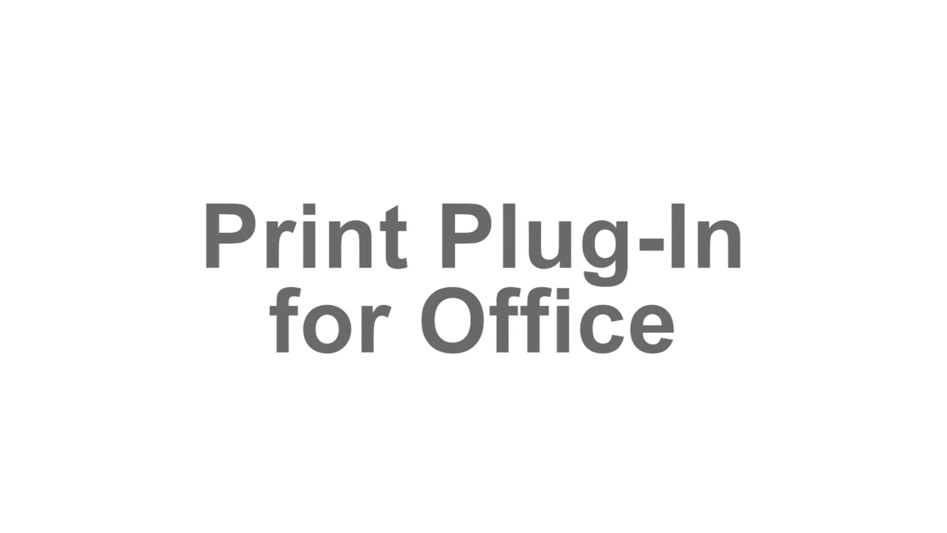 imagePROGRAF Office Plug In graphic