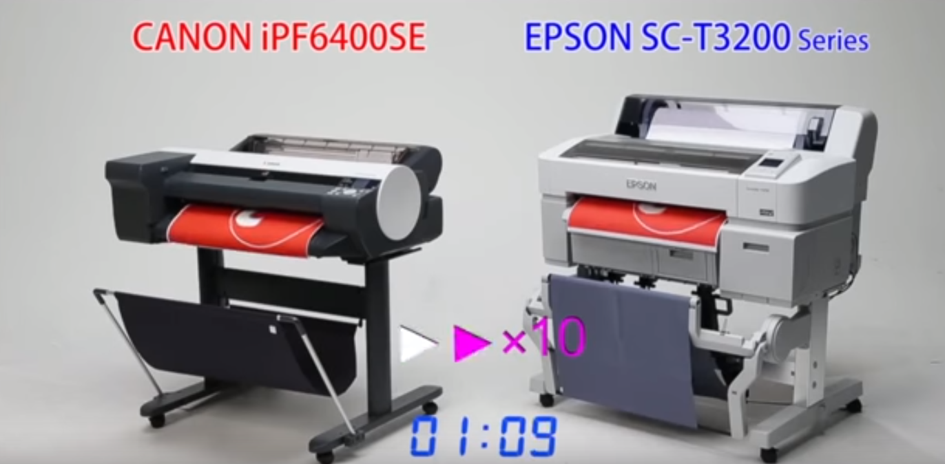 iPF6400SE vs Epson SureColor SC-T3200 graphic