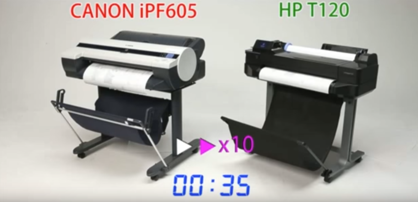 Canon iPF605 Vs HP T120 graphic