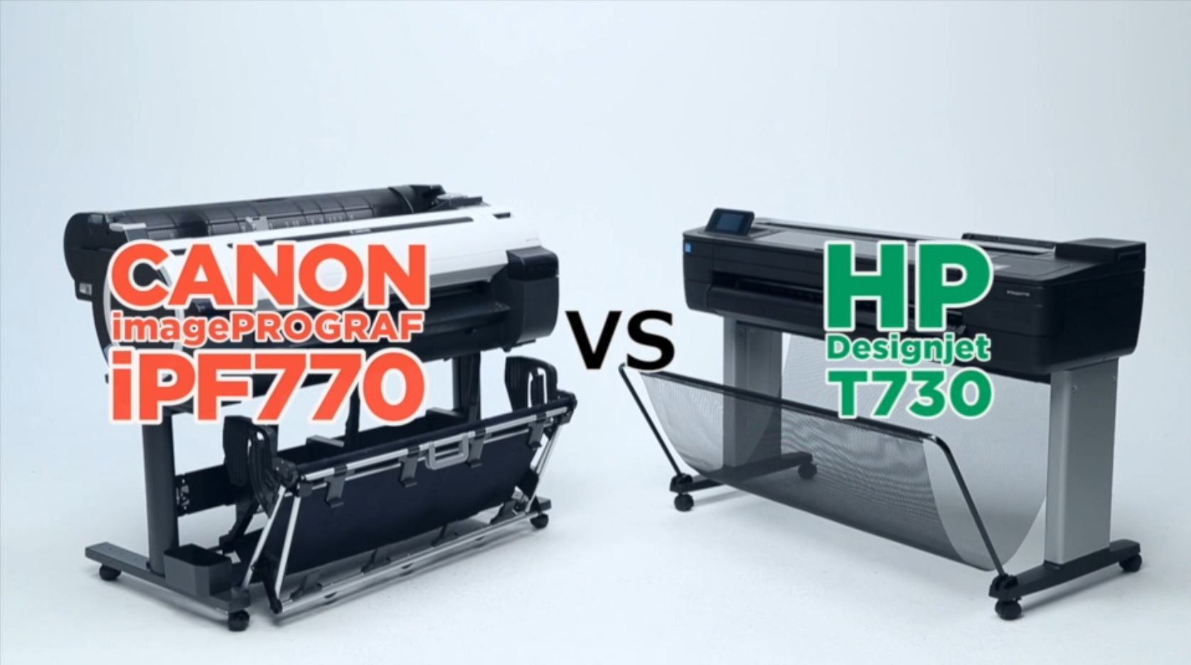 Canon iPF770 Vs HP T730 graphic