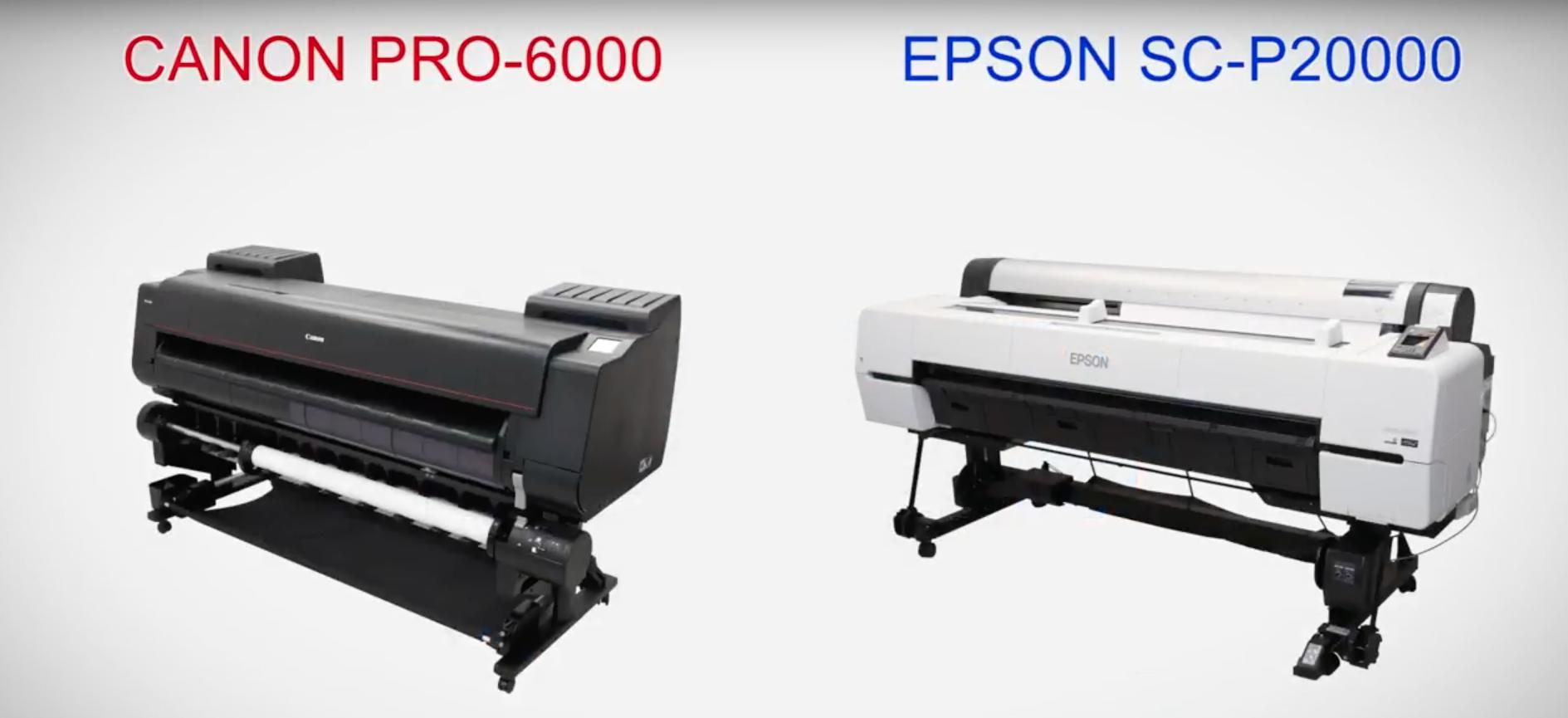 Canon PRO-6000 Vs Epson SC-P20000 graphic