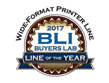 2017 BLI Line Of The Year Wide Format Printer Line Badge