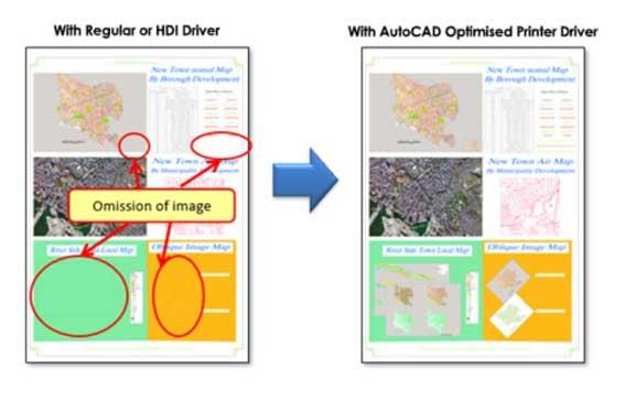 Auto CAD optimised Printer Driver