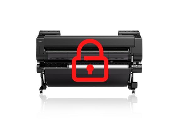 canon imagePROGRAF printer security
